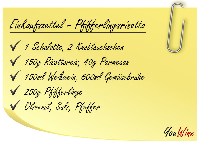 rezept pfifferlingsrisotto