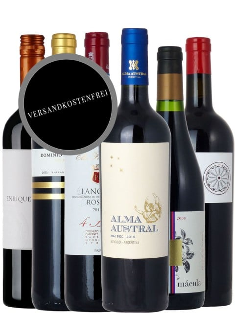 Internationaler Rotwein Paket